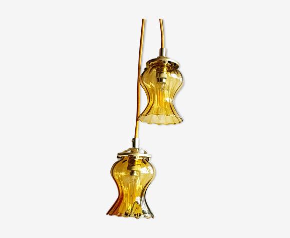 paire de Suspensions baladeuses globe vintage