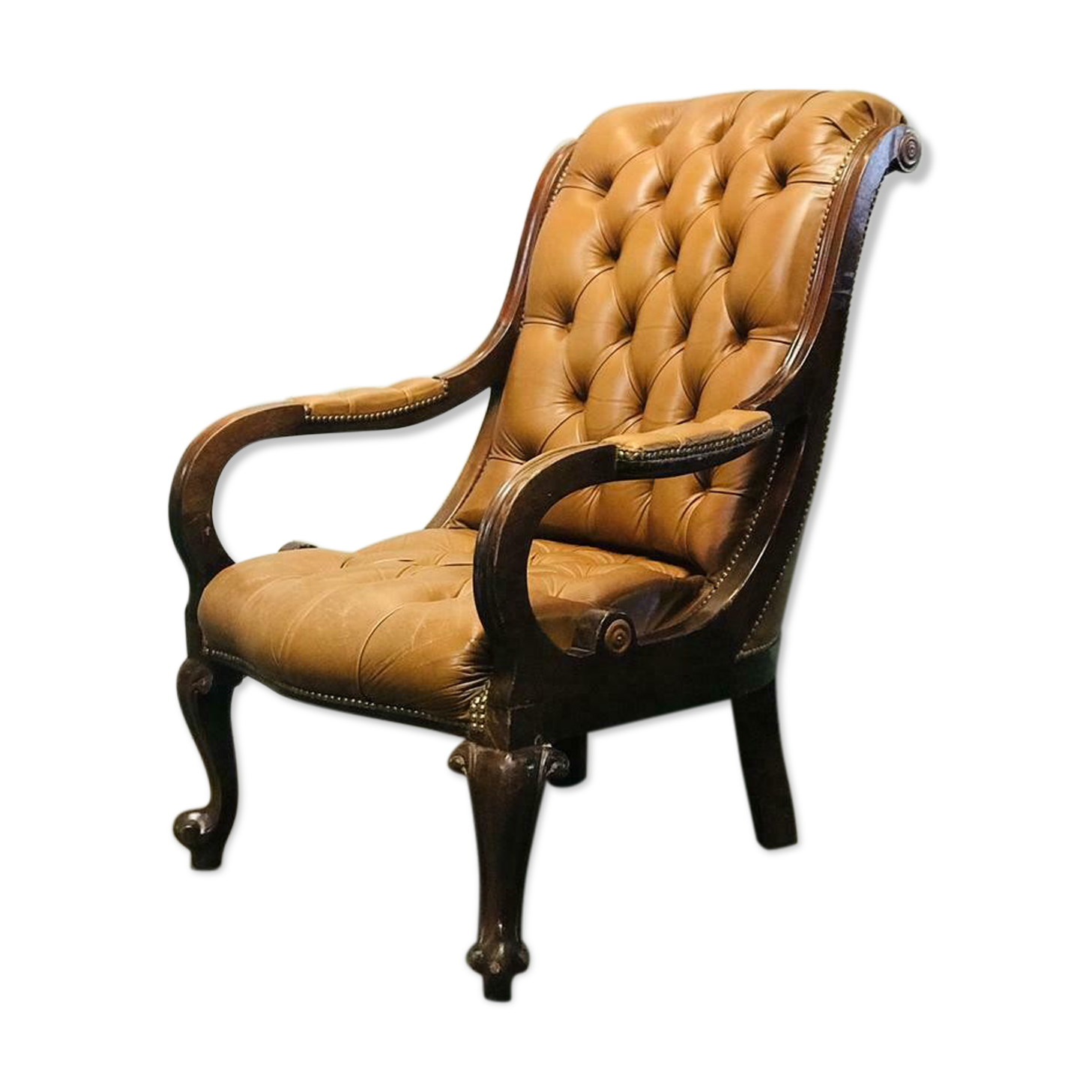 Fauteuil chesterfield vintage monoplace chaise