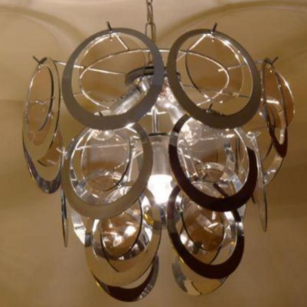 Suspension pampilles cercles métal