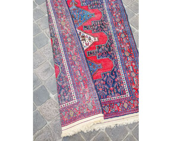 Tapis d'orient fait main vintage persan Senneh 155 x 113 cm