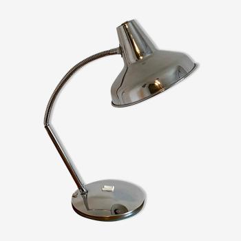 Lampe articulée vintage inox et chrome 1960 70
