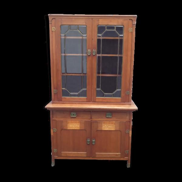 Meuble bibliothèque vitrine 2 corps jurgenstil 1920 art-déco
