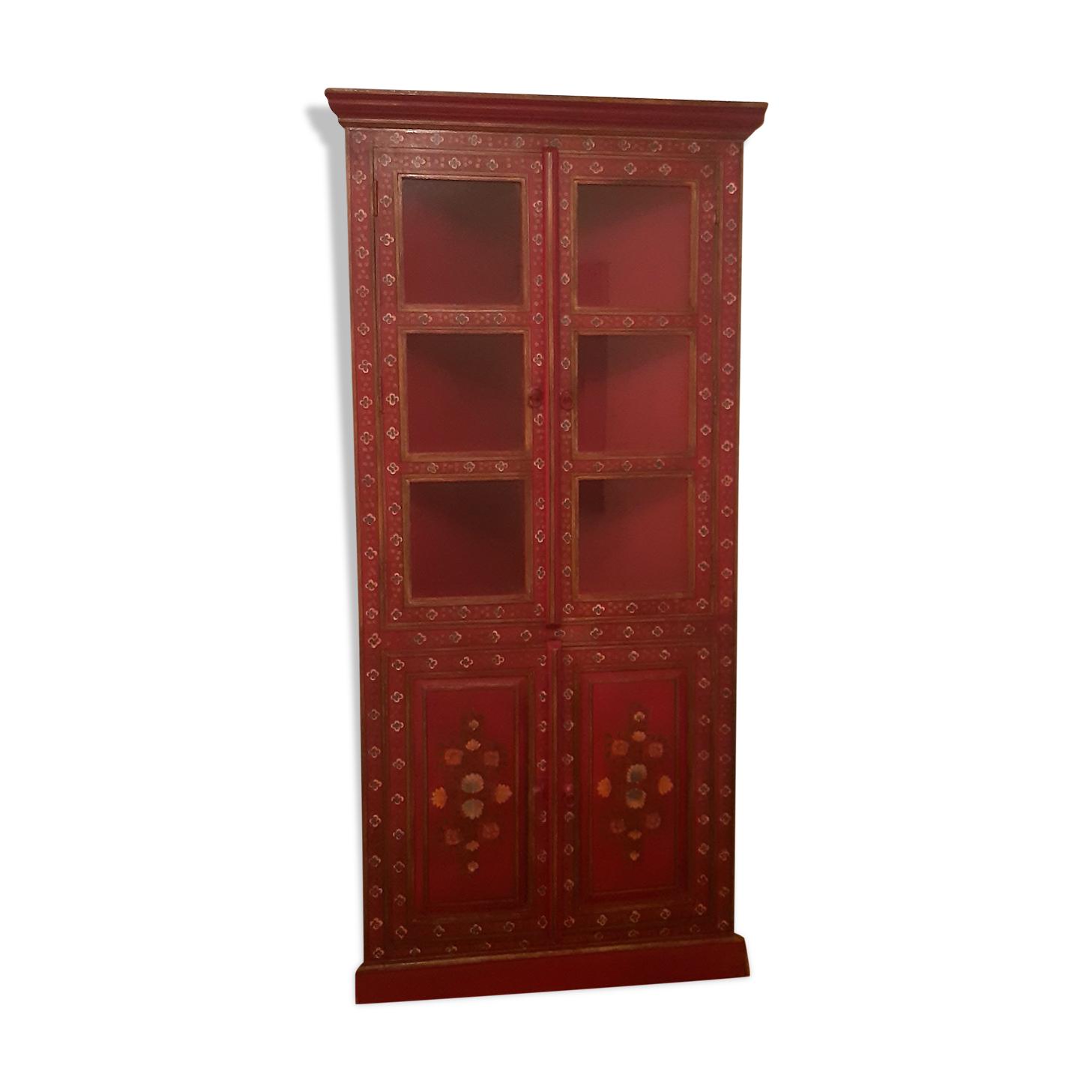 Encoignure indienne bois rouge