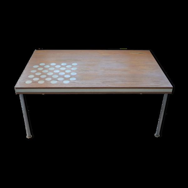 Selency Table basse en chêne danois vintage par France & sons Danemark
