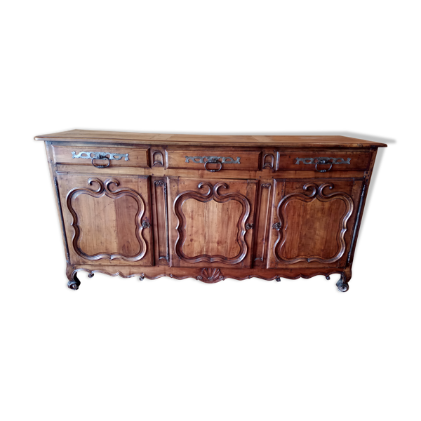 Buffet Louis XV en noyer 19 eme