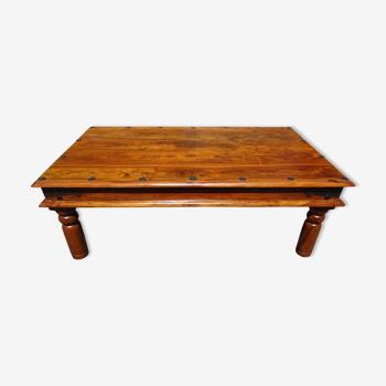 Table bois bois exotique style ethnique