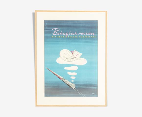 Affiche des années 1950 «Behaglich reisen»