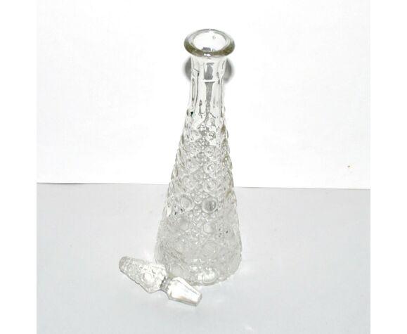 Service à liqueur en verre moulé Diamant Pierreries Baccarat 1900