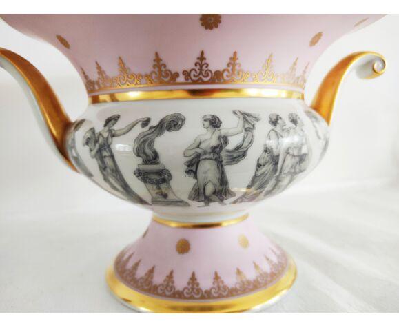 Vase porcelaine décor Grèce antique Bavaria