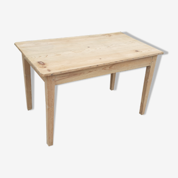Table de ferme bois brut sapin