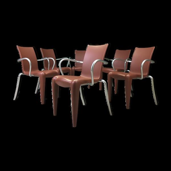 Selency Suite de six fauteuils Louis 20 par Philippe Starck pour Vitra