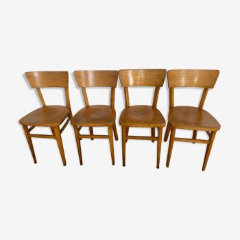 Lot de quatre chaises Bistrot
