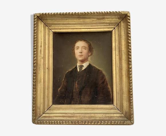 Portrait l'huile sur carton