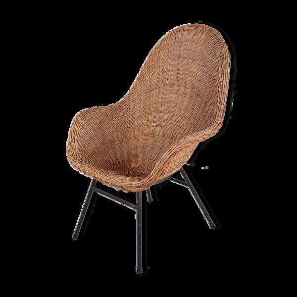 Chaise en rotin par Dirk van Sliedregt