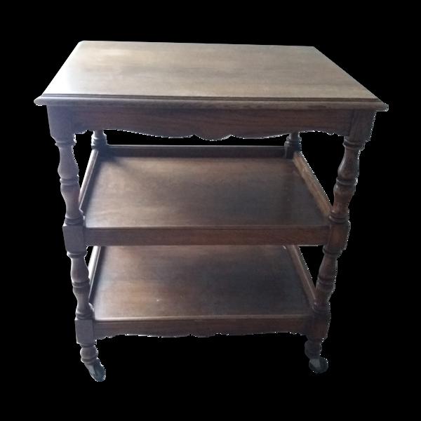 Table roulante bois massif