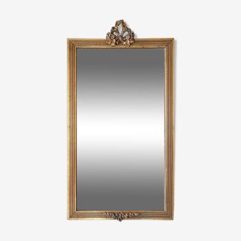 Miroir néo-classique en bois doré 69X37 cm