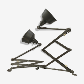Lot 2 lampes accordeon «midgard» appliques industrielles