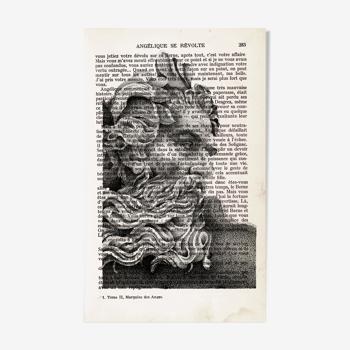 "Tirage ""Neptune"" sur livre"