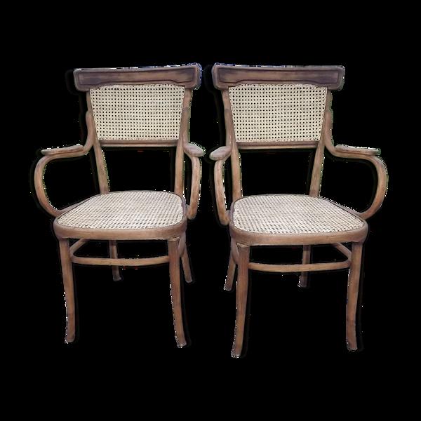 Paire de fauteuils Jacob et Josef Kohn Vienne