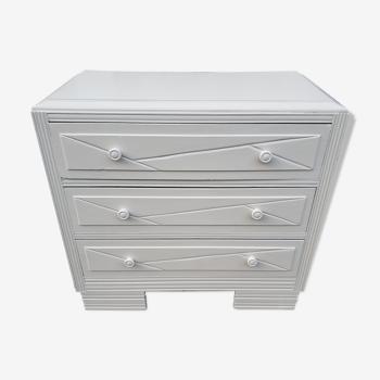Dresser vintage powder white changing table