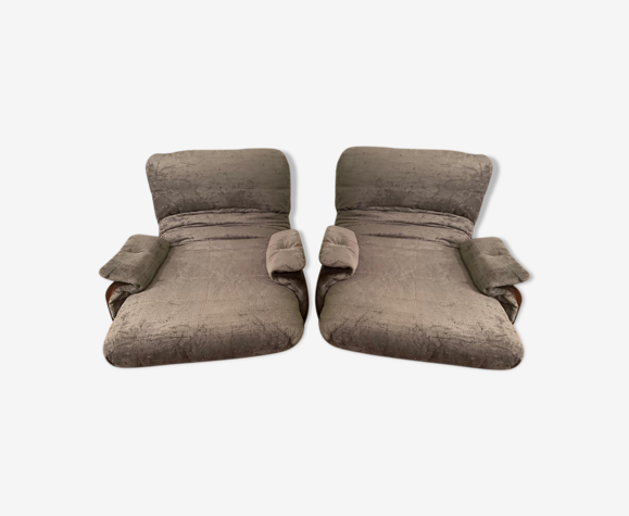 Paire de fauteuils Marsala de Michel Ducaroy pour Ligne Roset