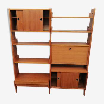 Vintage shelf 1 drawer, 1 flap, 5 shelves