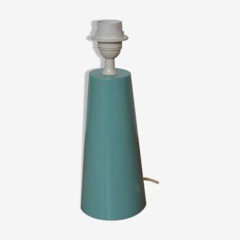 Pied de lampe vert d'eau Louxor par Arlus, années 1980 - Made in France