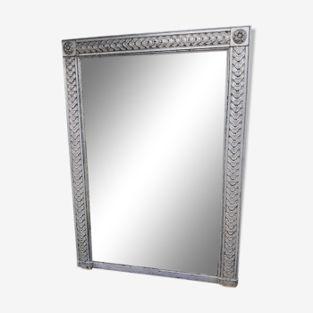 Miroir argenté de style Louis XVI
