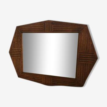 Miroir en bois art déco 75x53cm