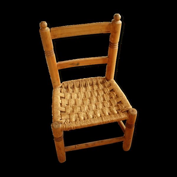 Chaise pour enfant en bois années 1930