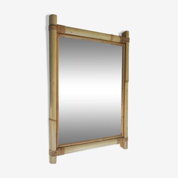 Miroir bambou rotin 30x46cm
