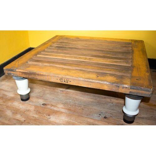 Table industriel avec pieds en porcelaine