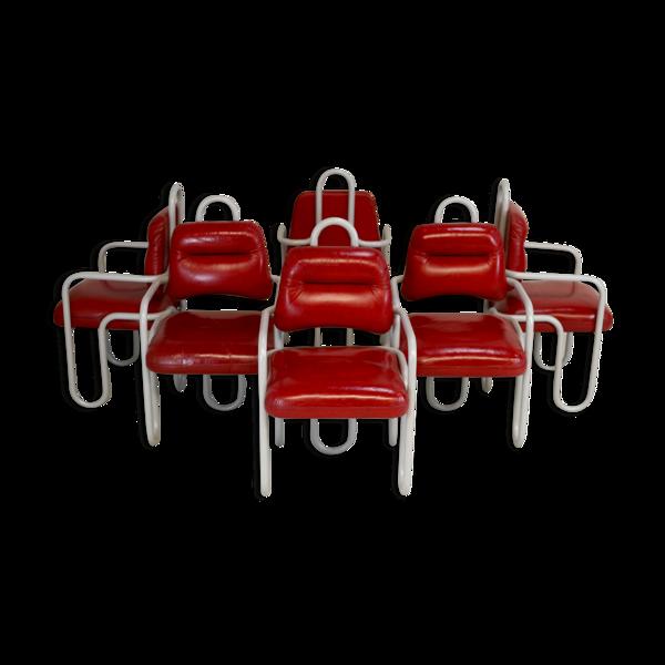 Set de 6 chaises de Kwok Hoi Chan édition Steiner France circa 1970