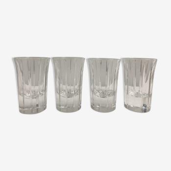 Set de 4 verres christal à vodka Christofle