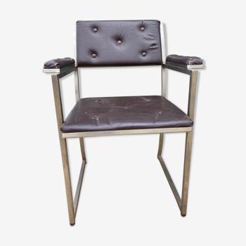 Fauteuil cuir design 1970