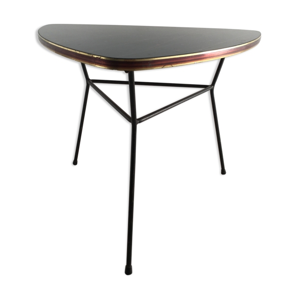 Table en verre trois pieds années 50/60