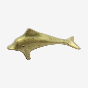Statue dauphin en laiton