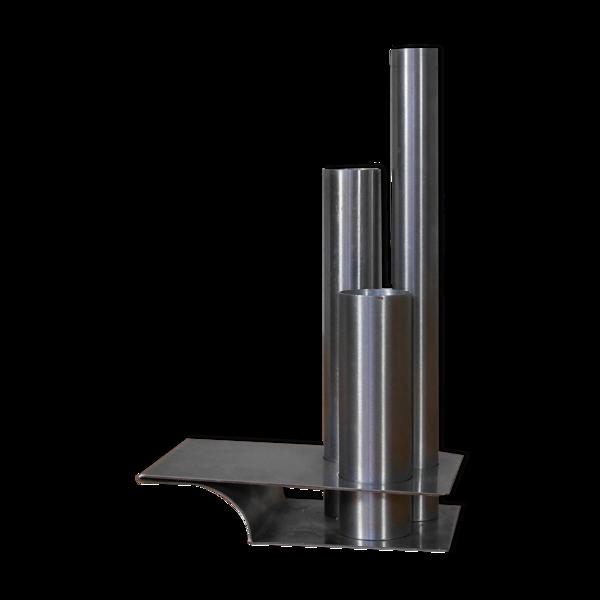 Vase soliflore de Letang Remy en métal inox 70
