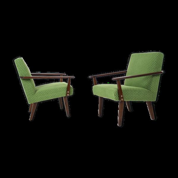 Paire de fauteuils design Tchécoslovaquie.