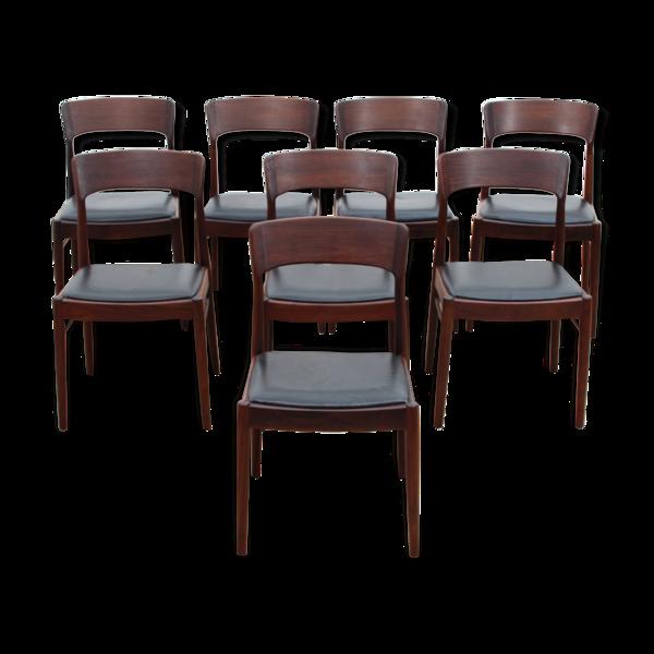 Selency Suite de 8 chaises scandinaves en palissandre de Rio, modèle 26