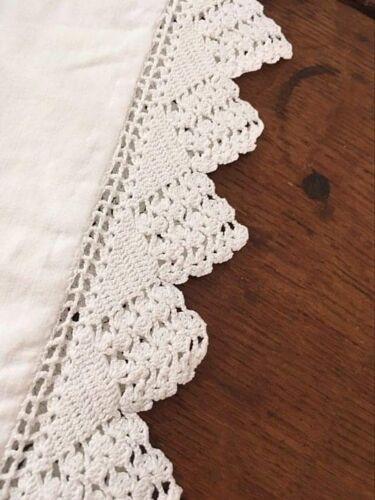 Taie d'oreiller coton et crochet