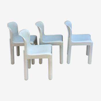 4 chaises modèle 4875 par Carlo Bartoli édition Kartell