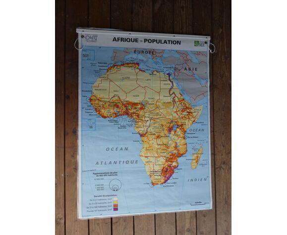 Carte scolaire poster vintage Afrique édition MDI