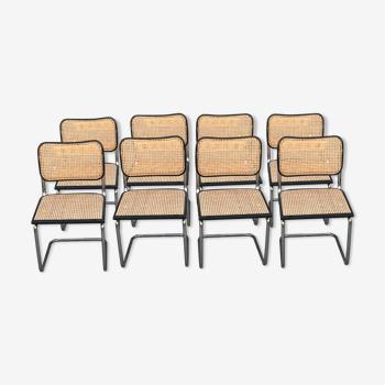 Lot de 8 chaises cesca B32 Marcel Breuer