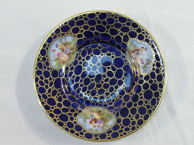 Paire de dejeuner tasse et sous-tasse en porcelaine  Ackermann et Fritze