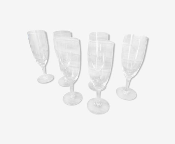 Set de 6 flûtes champagne cristal