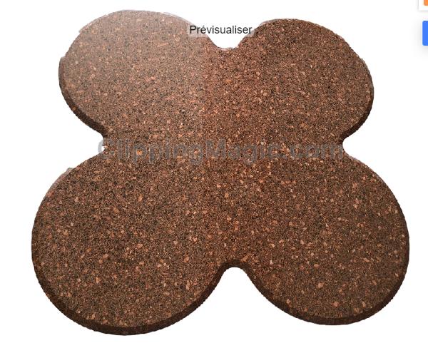 Table en granit en trefle