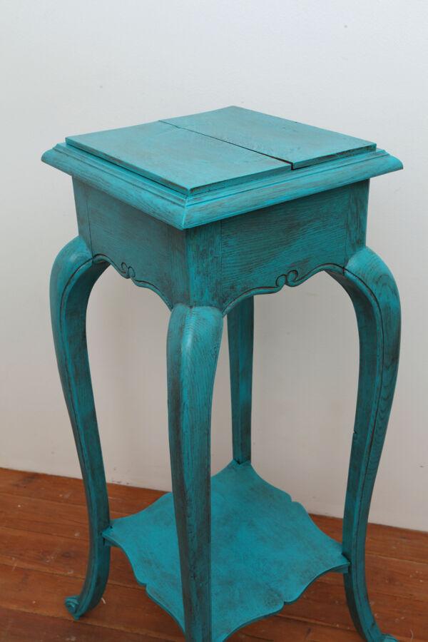 Sellette grande bois bleu