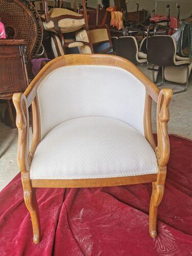 Salon complet 3 pièces Gondole style empire à col de cygnes