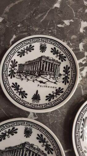 Lot de 4 petits vide poche faïence Grèce
